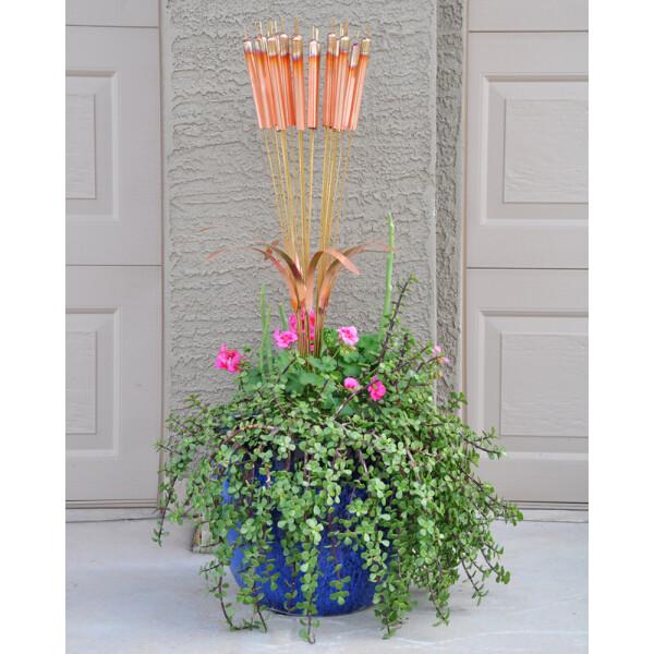 Chimes in a flower pot