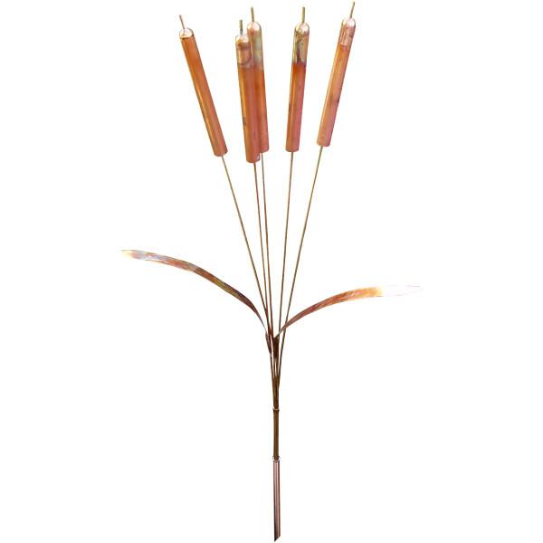 Copper cattail chimes